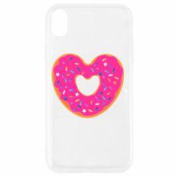 Чехол для iPhone XR Я люблю пончик