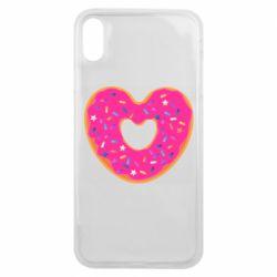 Чехол для iPhone Xs Max Я люблю пончик