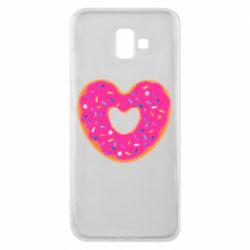 Чехол для Samsung J6 Plus 2018 Я люблю пончик