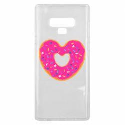 Чехол для Samsung Note 9 Я люблю пончик