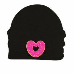 Шапка на флисе Я люблю пончик