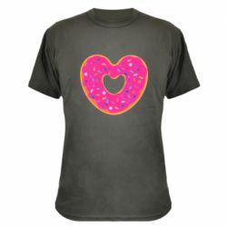 Камуфляжная футболка Я люблю пончик
