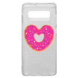 Чехол для Samsung S10+ Я люблю пончик