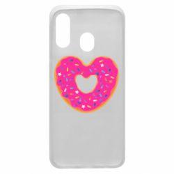 Чехол для Samsung A40 Я люблю пончик