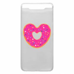 Чехол для Samsung A80 Я люблю пончик