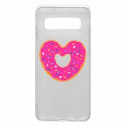 Чехол для Samsung S10 Я люблю пончик
