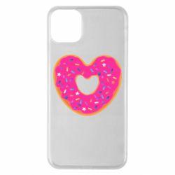 Чехол для iPhone 11 Pro Max Я люблю пончик
