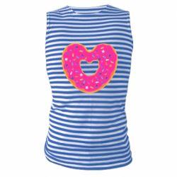 Майка-тельняшка Я люблю пончик
