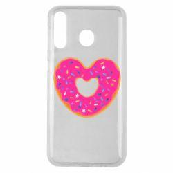 Чехол для Samsung M30 Я люблю пончик
