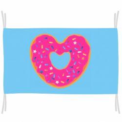 Флаг Я люблю пончик