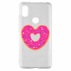 Чехол для Xiaomi Redmi S2 Я люблю пончик
