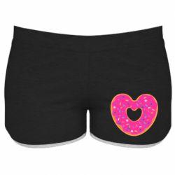 Женские шорты Я люблю пончик