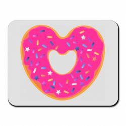 Коврик для мыши Я люблю пончик