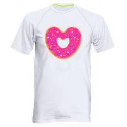 Мужская спортивная футболка Я люблю пончик