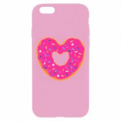 Чехол для iPhone 6 Plus/6S Plus Я люблю пончик