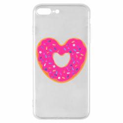 Чехол для iPhone 7 Plus Я люблю пончик