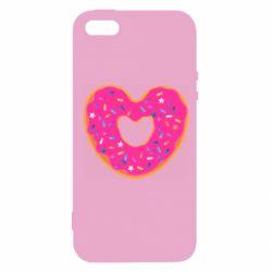 Чехол для iPhone5/5S/SE Я люблю пончик