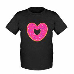 Детская футболка Я люблю пончик