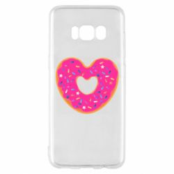 Чехол для Samsung S8 Я люблю пончик