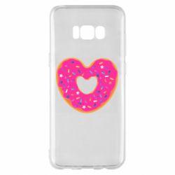 Чехол для Samsung S8+ Я люблю пончик