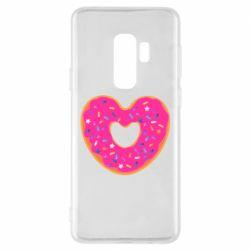 Чехол для Samsung S9+ Я люблю пончик