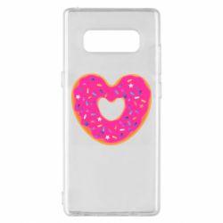 Чехол для Samsung Note 8 Я люблю пончик