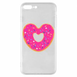 Чехол для iPhone 8 Plus Я люблю пончик
