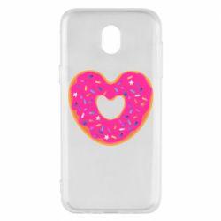 Чехол для Samsung J5 2017 Я люблю пончик