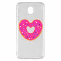 Чехол для Samsung J7 2017 Я люблю пончик