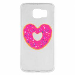 Чехол для Samsung S6 Я люблю пончик