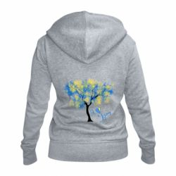 Жіноча толстовка на блискавці Я люблю Україну і дерево