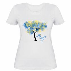 Жіноча футболка Я люблю Україну і дерево