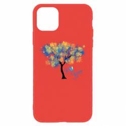 Чохол для iPhone 11 Я люблю Україну і дерево