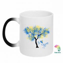 Кружка-хамелеон Я люблю Україну і дерево