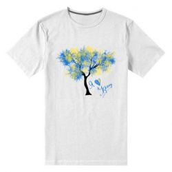 Чоловіча стрейчева футболка Я люблю Україну і дерево