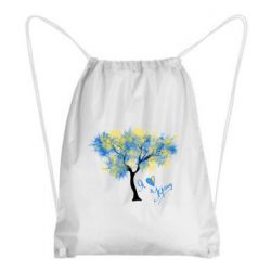 Рюкзак-мішок Я люблю Україну і дерево