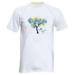 Чоловіча спортивна футболка Я люблю Україну і дерево