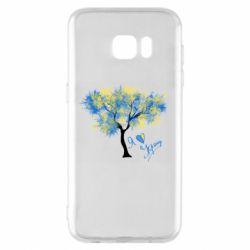 Чохол для Samsung S7 EDGE Я люблю Україну і дерево