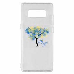 Чохол для Samsung Note 8 Я люблю Україну і дерево