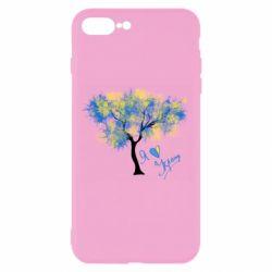 Чохол для iPhone 8 Plus Я люблю Україну і дерево