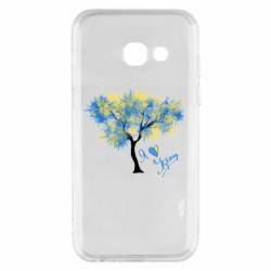 Чохол для Samsung A3 2017 Я люблю Україну і дерево