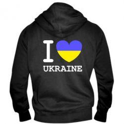 Мужская толстовка на молнии Я люблю Україну - FatLine