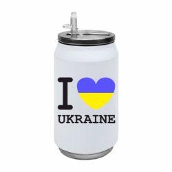 Термобанка 350ml Я люблю Україну