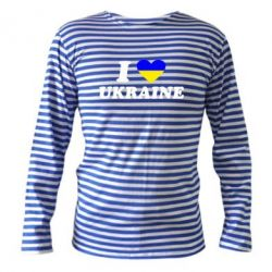 Тельняшка с длинным рукавом Я люблю Украину - FatLine