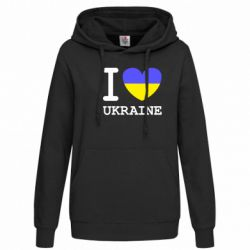 Женская толстовка Я люблю Україну - FatLine