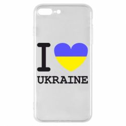 Чохол для iPhone 7 Plus Я люблю Україну