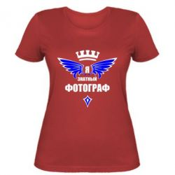 Женская футболка Я знатный фотограф