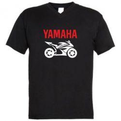 Мужская футболка  с V-образным вырезом Yamaha Bike - FatLine