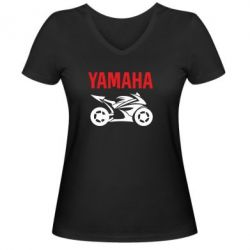 Женская футболка с V-образным вырезом Yamaha Bike - FatLine