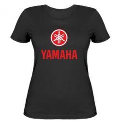Женская футболка Yamaha Logo(R+W) - FatLine